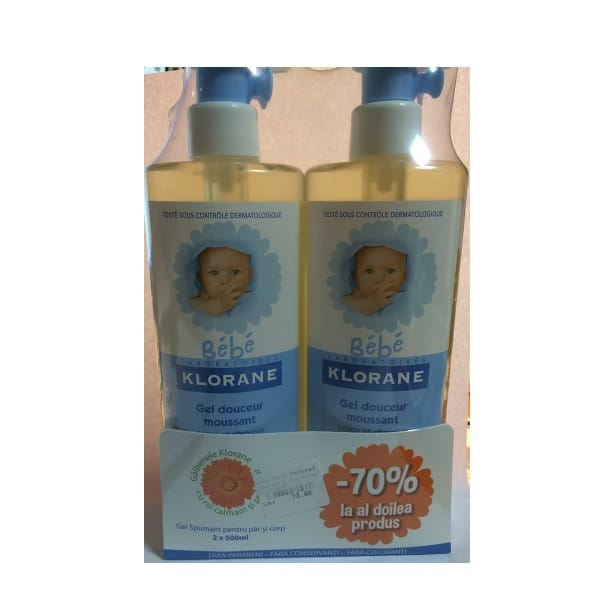 Klorane Bebe Duo Pack Gel spumant 2 x 500 ml